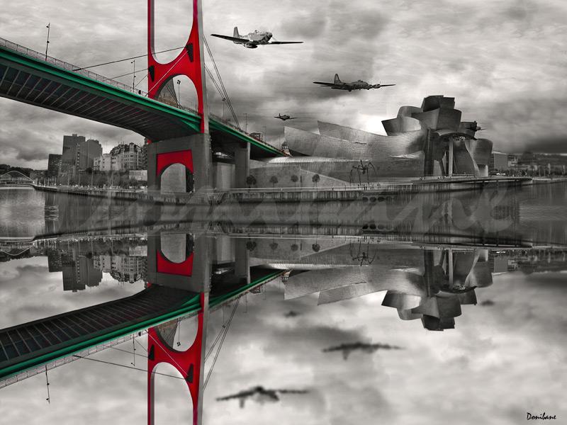 Surcando el cielo de Bilbao, por Donibane