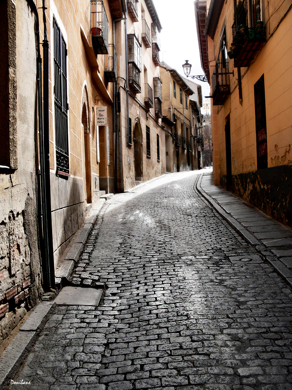 Streets of Segovia, Spain, by Donibane
