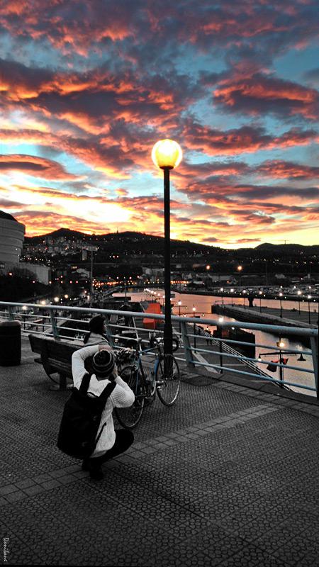 Puesta de sol en Bilbao por Donibane